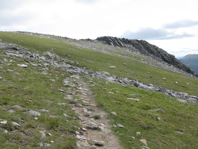 Approaching the Summit of Carn Mairg