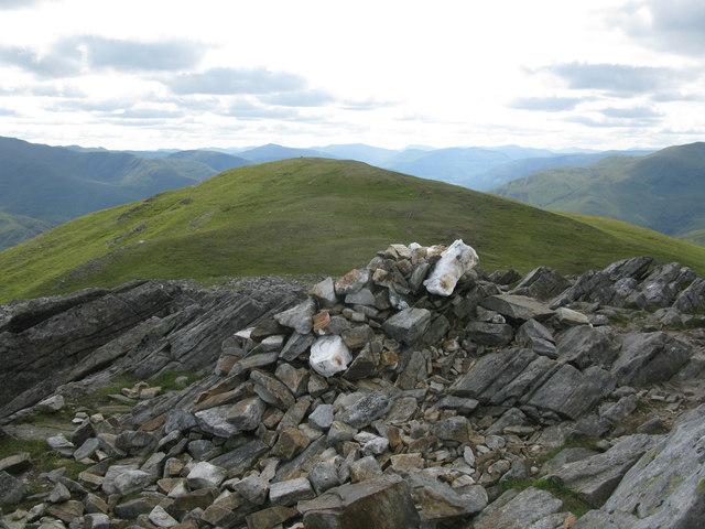 Meall nan Aighean Summit Cairn