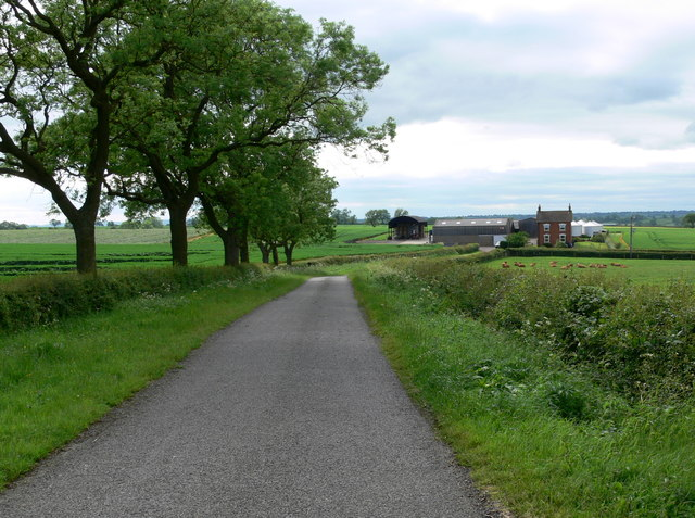 Gaddesby Lane heading towards Elms Cottages