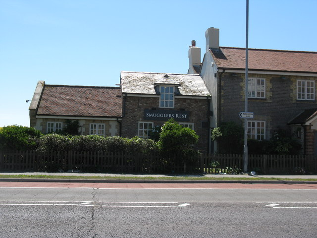 The Smugglers Rest on the A259 at Telscombe Cliffs