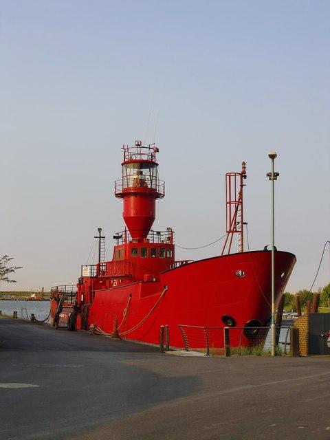 Lightship LV 21 at Gillingham pier