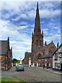 SJ6188 : Entrance to St Elphin's Church, Warrington by David Dixon