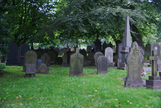 Graves in Rochdale Cemetery