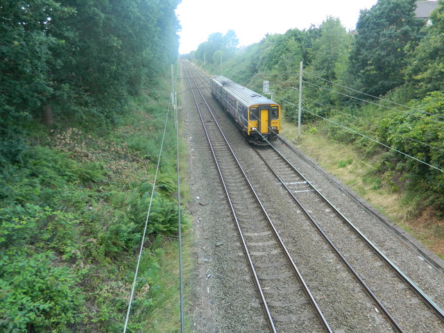 Railway line and train, Wargrave