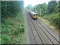 SJ5894 : Railway line and train, Wargrave by John Lord