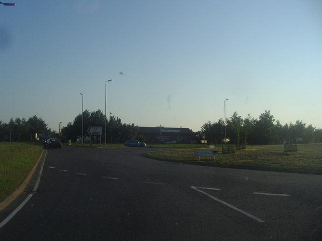 Roundabout on The Causeway, Whittlesford