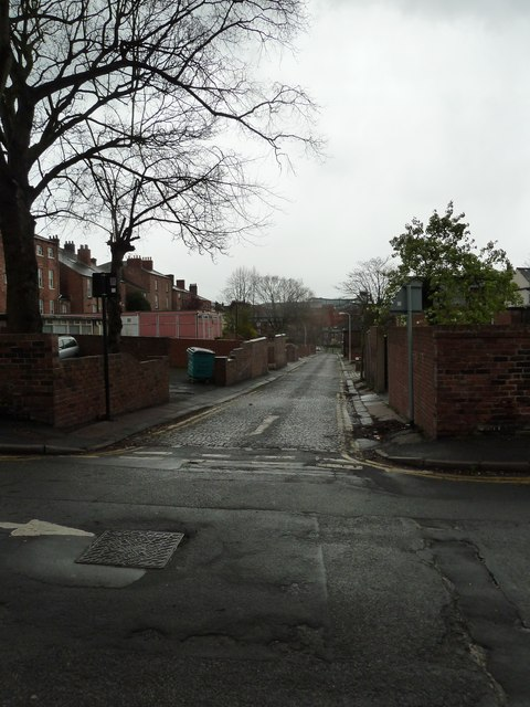 Looking from Brunswick Street into Wilkinson Lane