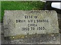 H5517 : Inscribed stone, Drum former school by Kenneth  Allen