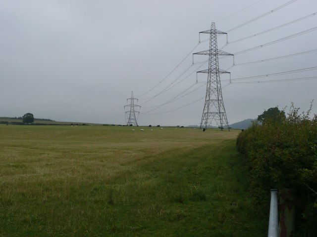Pylons in pasture