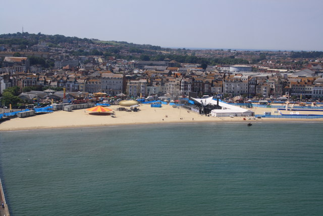Olympics compound, Weymouth Beach