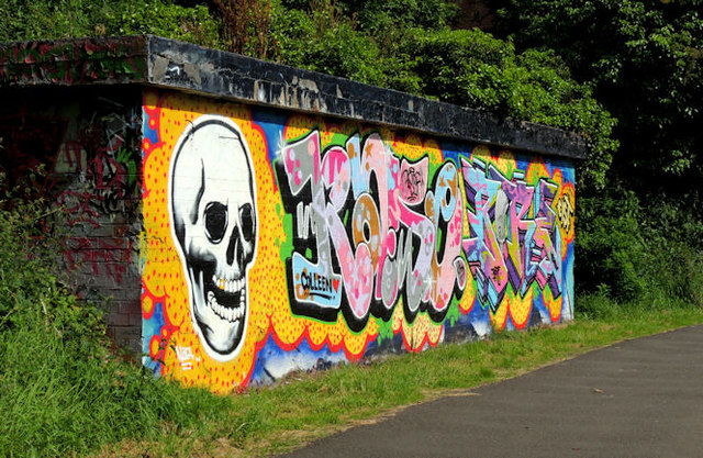 Graffiti, Lagan towpath, Belfast (July 2012)