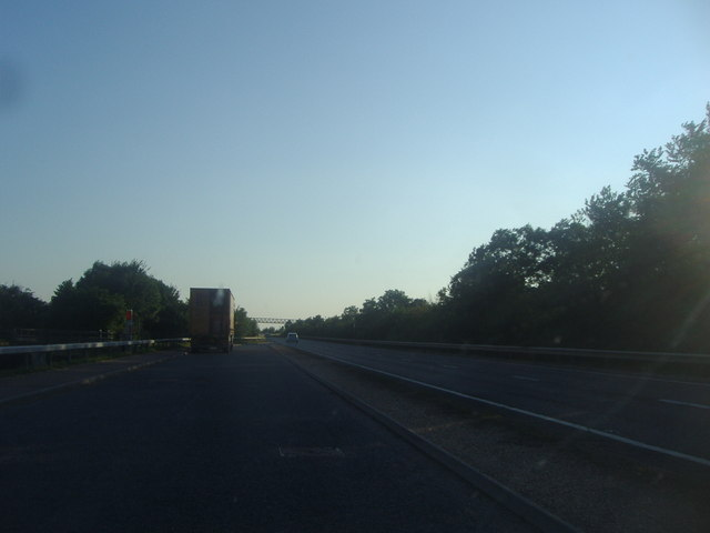 Parking area on the A11 near Wilbraham