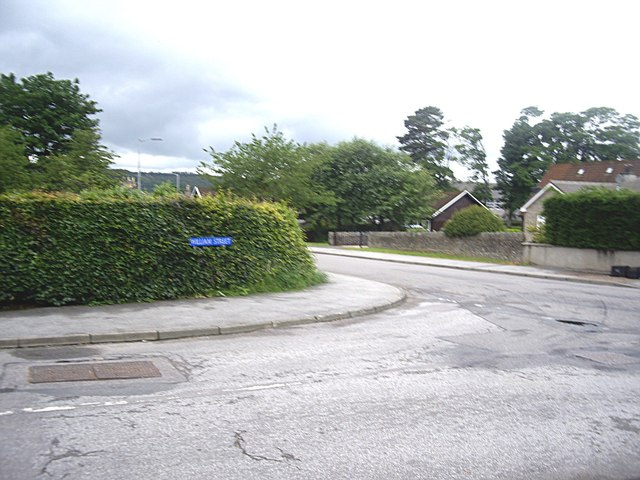 Junction of William Street with The Square, Torphins