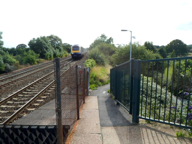 Ramp from  Nailsea & Backwell railway station to Station Close, Backwell