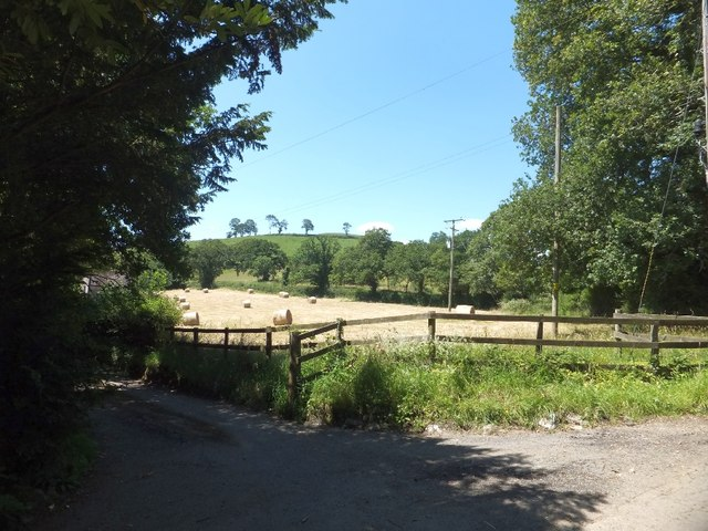 Field and entrance at Glebe Farm