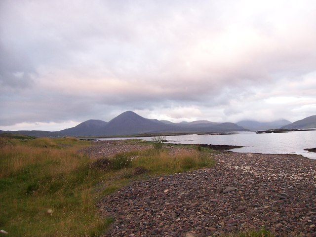 View across Broadford Bay from Lower Breakish