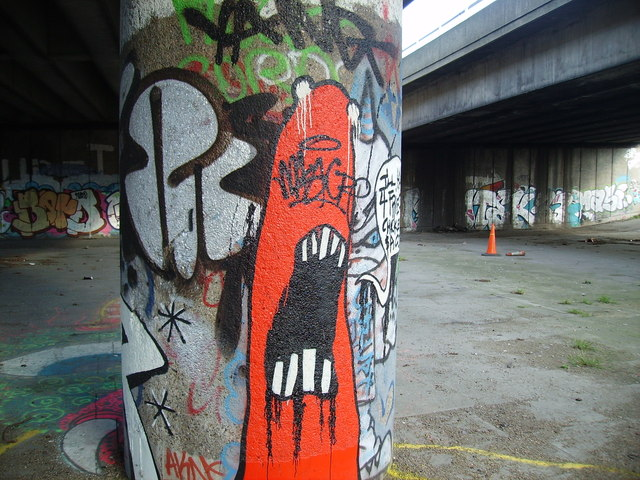 Graffiti under the A12 flyover