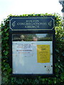 TL1554 : Roxton Congregational Church, Noticeboard by Alexander P Kapp