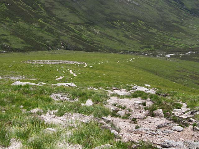 Path on lower slopes Sron Riach