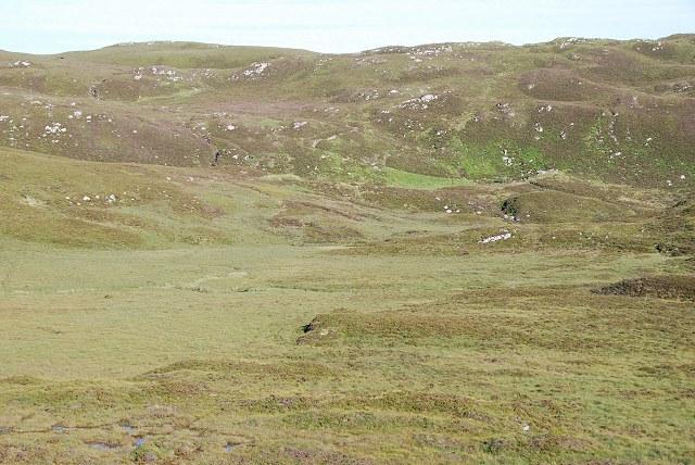 Boggy ground between Loch nan Cèard Mòr and Loch Gainmheach