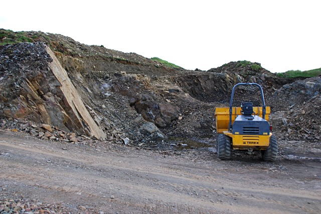 Borrow pit for hydro access road