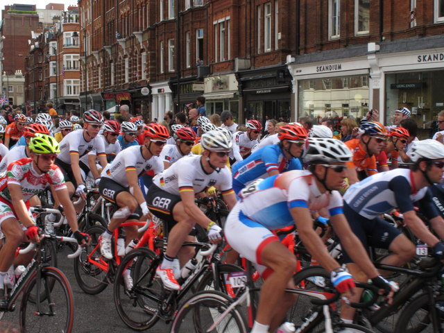 Olympics men's cycling road race, Brompton Road (3)