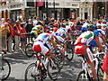 TQ2779 : Olympics men's cycling road race, Brompton Road (4) by David Hawgood