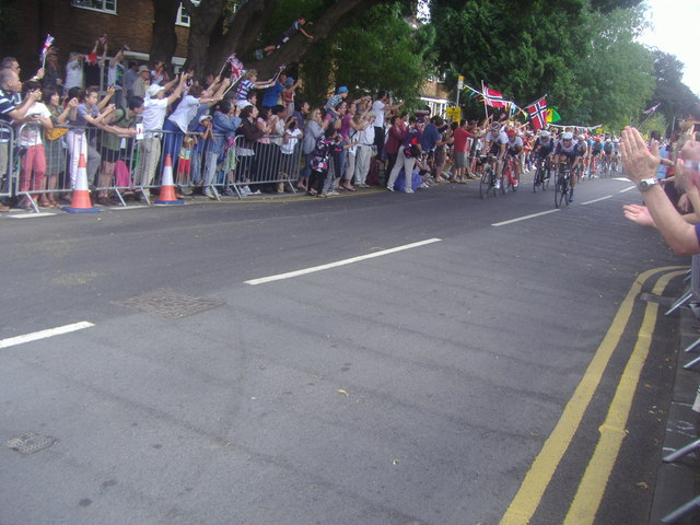 Olympic men's road race, Queen's Road, Kingston