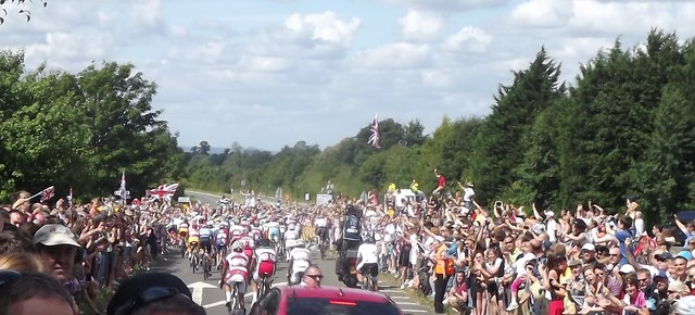 Olympic Road Race Leaving East Clandon