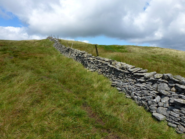 Boundary wall below Great Knoutberry Hill.