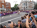 TQ2779 : Olympics men's cycling road race, Brompton Road (5) by David Hawgood