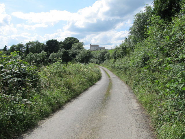 Narrow rural road in the Townland of Tonymacgillduff