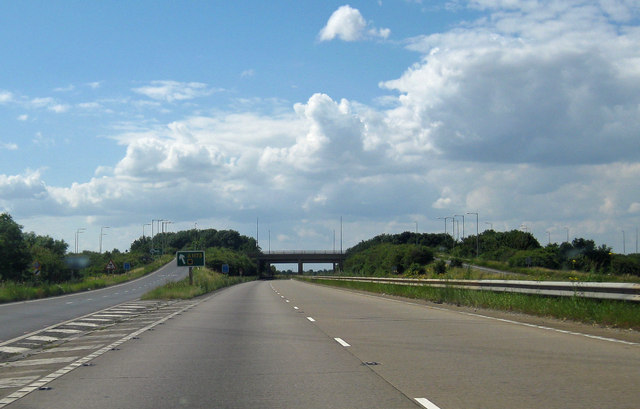 A180 - Exit to A1173 for Immingham