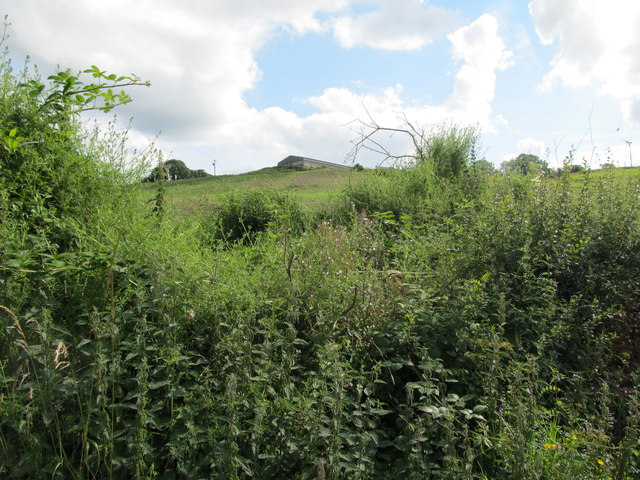 View up slope to farm sheds at Corragary