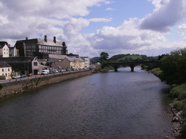 County Hall and stone bridge Carmarthen