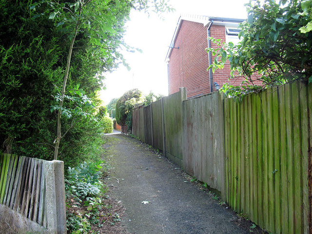 Urban footpath through the Parkhouse estate