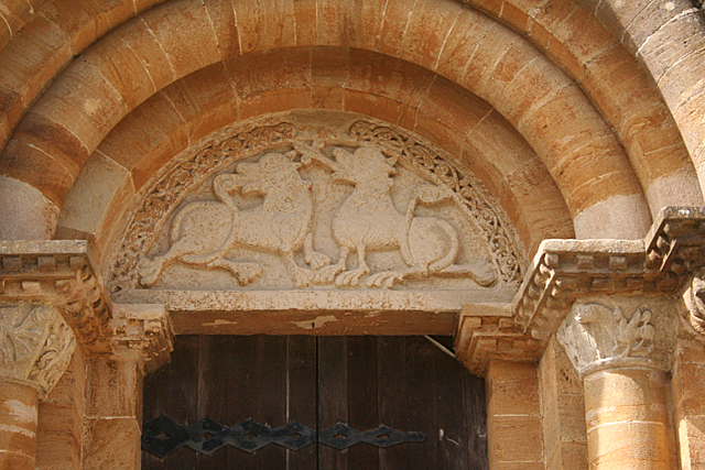 Milborne Port: tympanum in south doorway