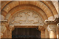 ST6718 : Milborne Port: tympanum in south doorway by Martin Bodman