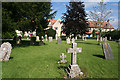 ST6718 : Milborne Port: view across the graveyard by Martin Bodman