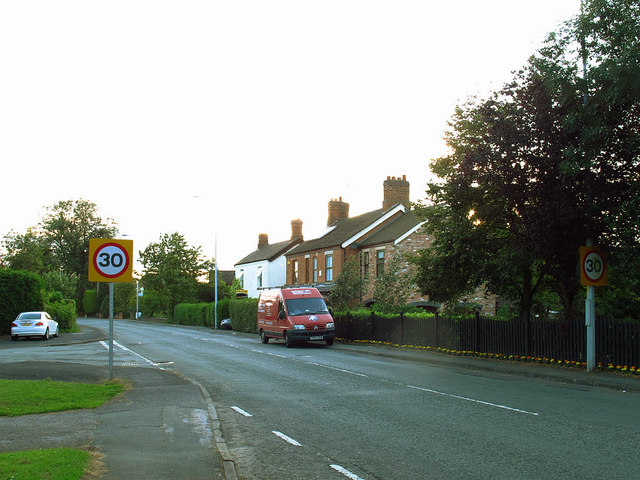 Speed limit approaching Sandbach