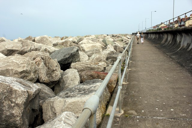 Sea Defences at Rhôs-on-Sea