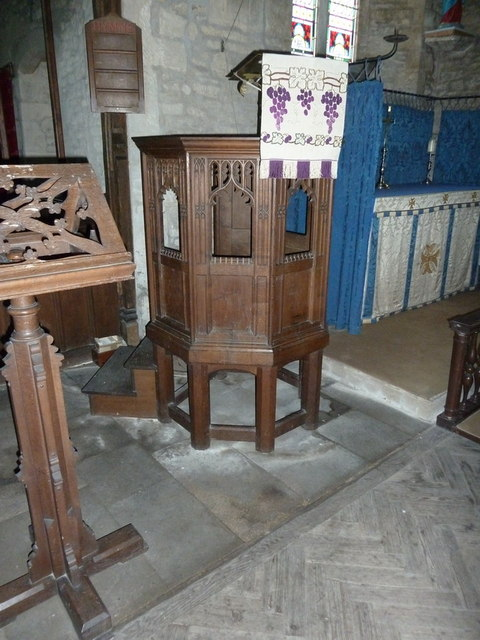 Church of St Remigius, Water Newton. Pulpit