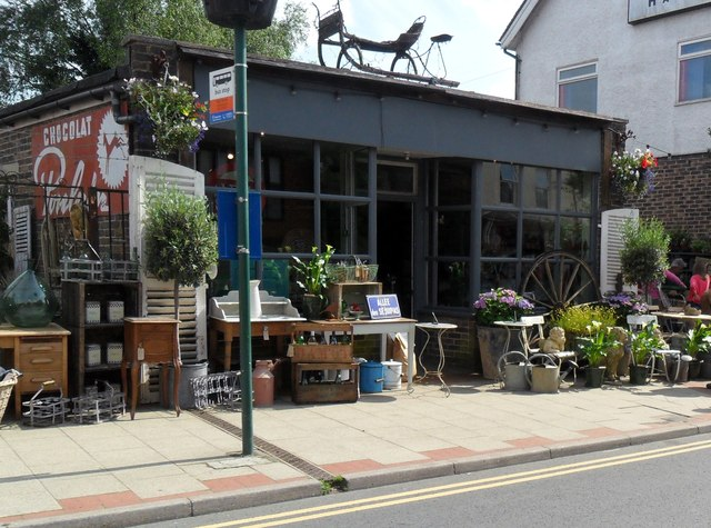 'The Green Place', antiques shop, Heathfield, East Sussex
