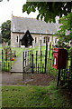 SK8266 : Girton churchyard and Girton postbox (ref. NG23 41)  by Alan Murray-Rust