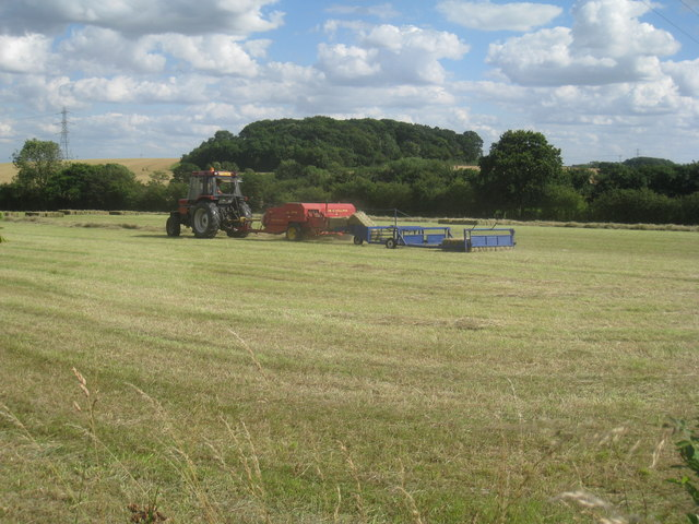 Baling hay near Sutton on Trent