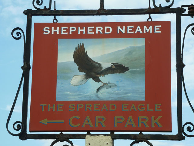 Spread Eagle inn sign