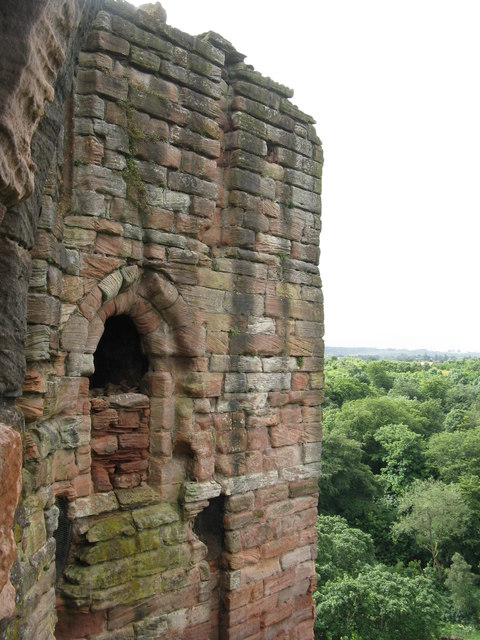 Walled-up window at Bothwell Castle