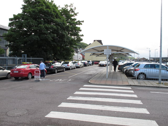 Taxi rank and car park, Cork Kent Station