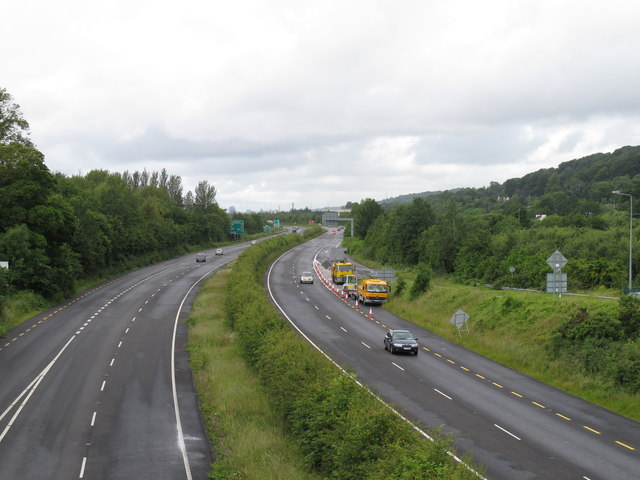 N25 dual carriageway by Little Island