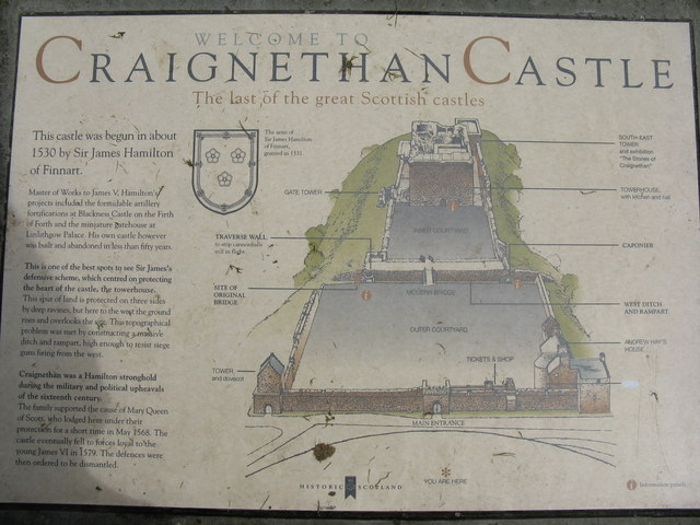Craignethan Castle information board